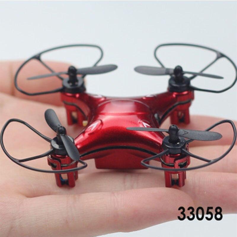 2.4G mini avión de cuatro ejes Mini Super Quad helicóptero Mini - Juguetes con control remoto