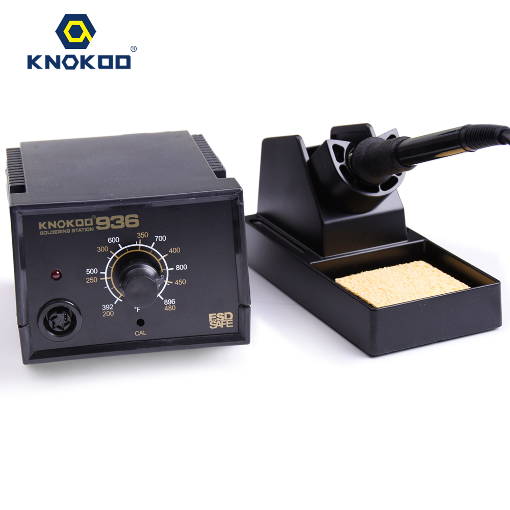 60W 110V/220V KNOKOO Soldering Station 936 with 5PCS 900M Tips and 1PCS A1321 Ceramic Heater 220v 50w yihua 937 soldering station with extra free hakko a1321 ceramic heater
