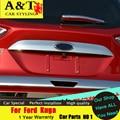 AKD estilo do carro Para Ford Kuga Escape traseiro Tronco acabamento cromado 2013-2015 Para O Kuga Tronco adesivos tronco decorativo tira guarnição