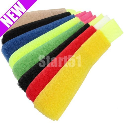 wholesale free shipping 8 pcs Cable Power Wire Management Marker Straps Ties