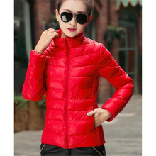 ZOGAA 2019 NEW Early Winter Down Jacket for Women Warm  Coat Ultra Light Big Size High Quality Oversize Outwear Hot Sale