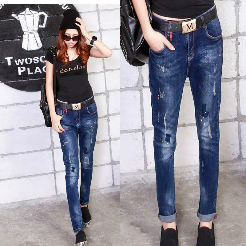 pencil pants 2016 The New leisure jeans woman
