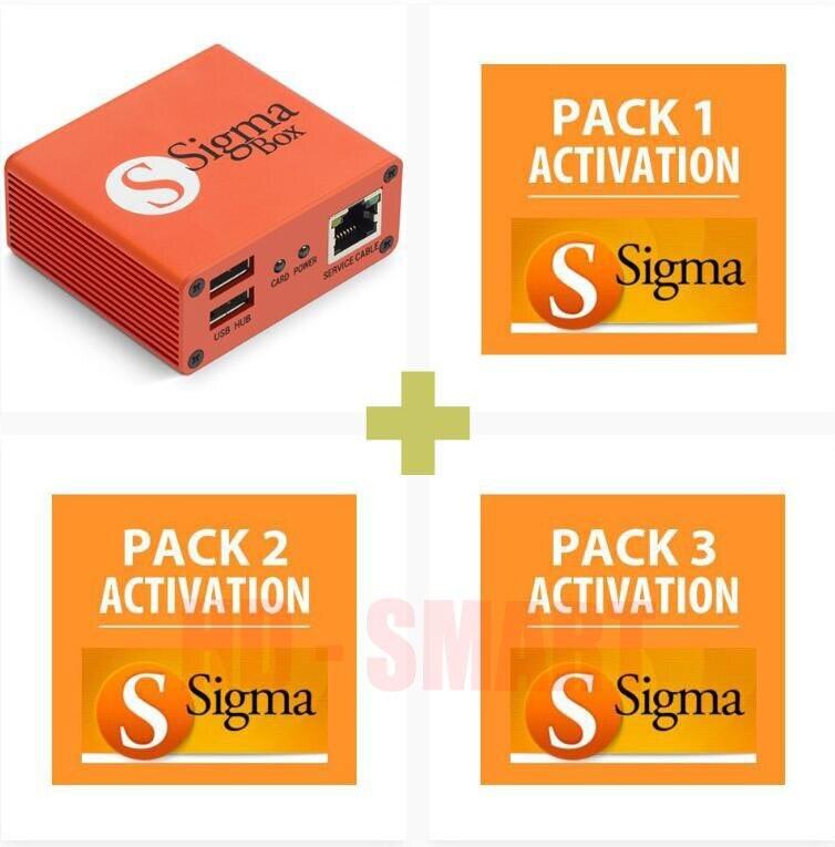 2018 version boîte d'origine Sigma avec 9 jeux de câbles + Pack Sigma 1, 2, 3 Activations