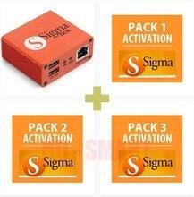 2020 versão original sigma caixa com 9 conjunto de cabos + sigma pacote 1, 2, 3 ativações