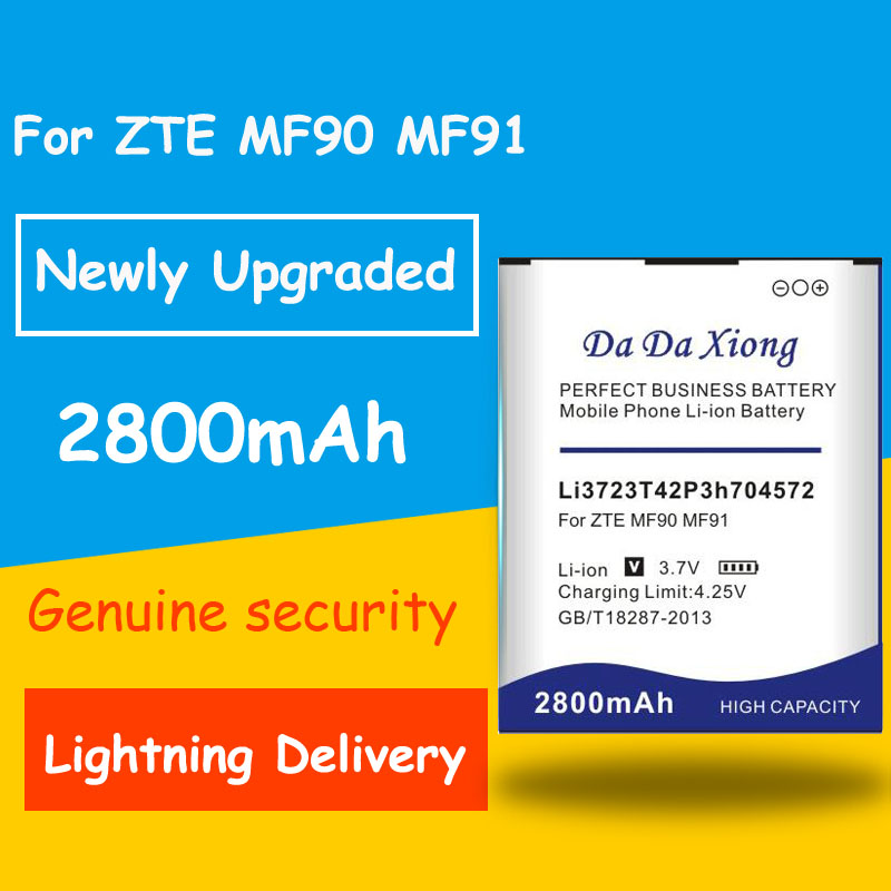 Free shipping 2800mAh Li3723T42P3h704572 <font><b>Battery</b></font> for <font><b>ZTE</b></font> MF91 <font><b>MF90</b></font> Replacement batteria image