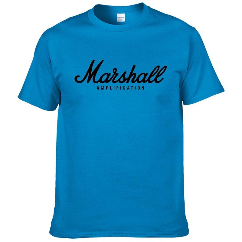 100% cotton Marshall T Shirt men short sleeves tee hip hop street wear for fans hipster 33