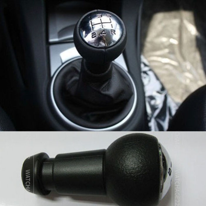 BLACK WITH ORANGE INLAY TRANSFER CASE SHIFT KNOB FOR FORD GEAR SHIFTER 4X4 4WD