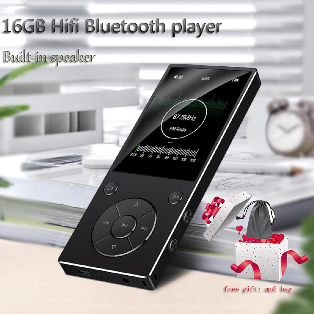 Lecteur mp4 haut-parleur d'origine 16 GB perte HIFI son mp4 lecteur de musique avec bluetooth FM Radio enregistreur vocal E-Book visionneuse de photos