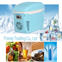 7.5L Portable Mini Car Fridge Vehicle Electric ABS Multi Function Home Cooler Freezer Warmer Refrigerator Fridge Auto Supply
