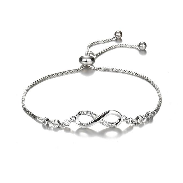 7e974e7e5 New Luxurious Silver Color Crystal Pandora Bracelet Adjustable Infinity  Charm Bracelets for Women Fashion Jewelry Dropshipping