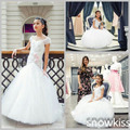 Branco / marfim sereia vestidos menina para juniors bonito vestidos de noiva prom puffy comunhão vestidos