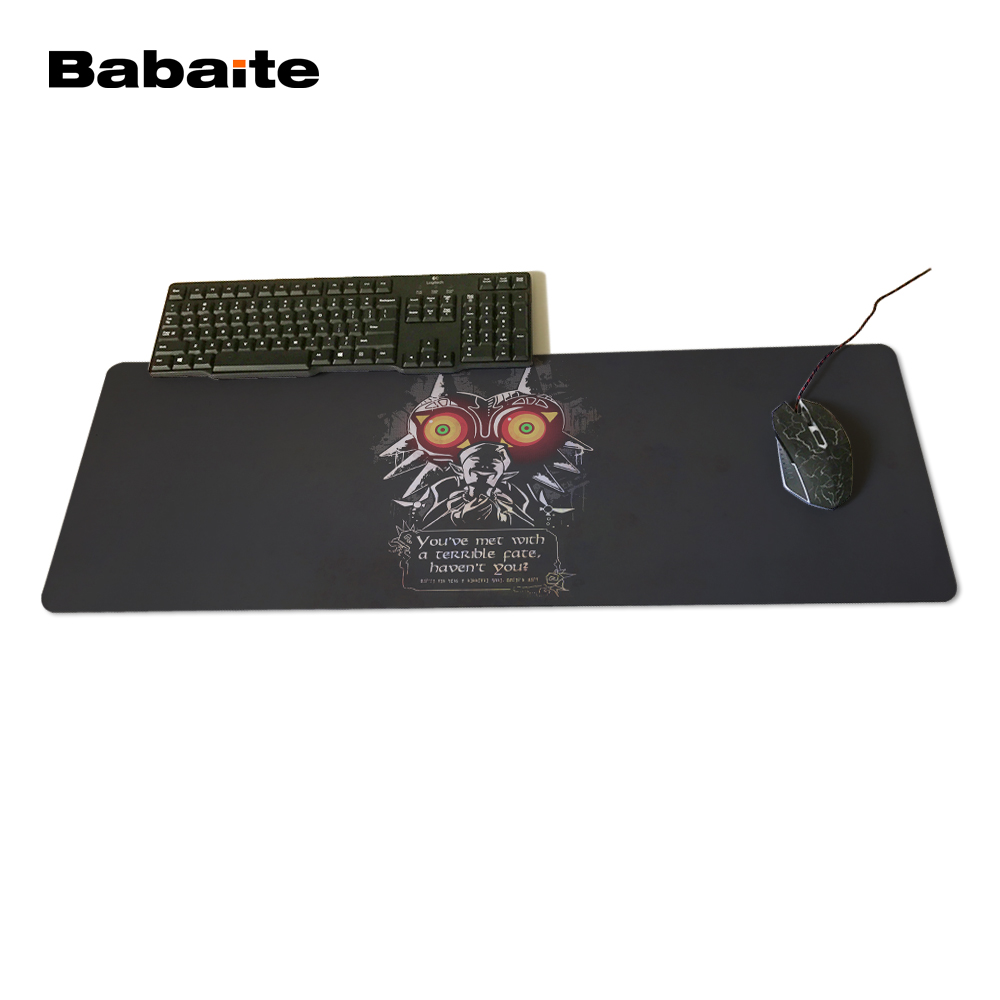 Babaite Gaming Notebook Berkualitas Tinggi Anti-slip Eagles Logo Legenda  zelda Pedang Gaming Mouse Pad PC Komputer Laptop Gaming 2d72dcdcf1