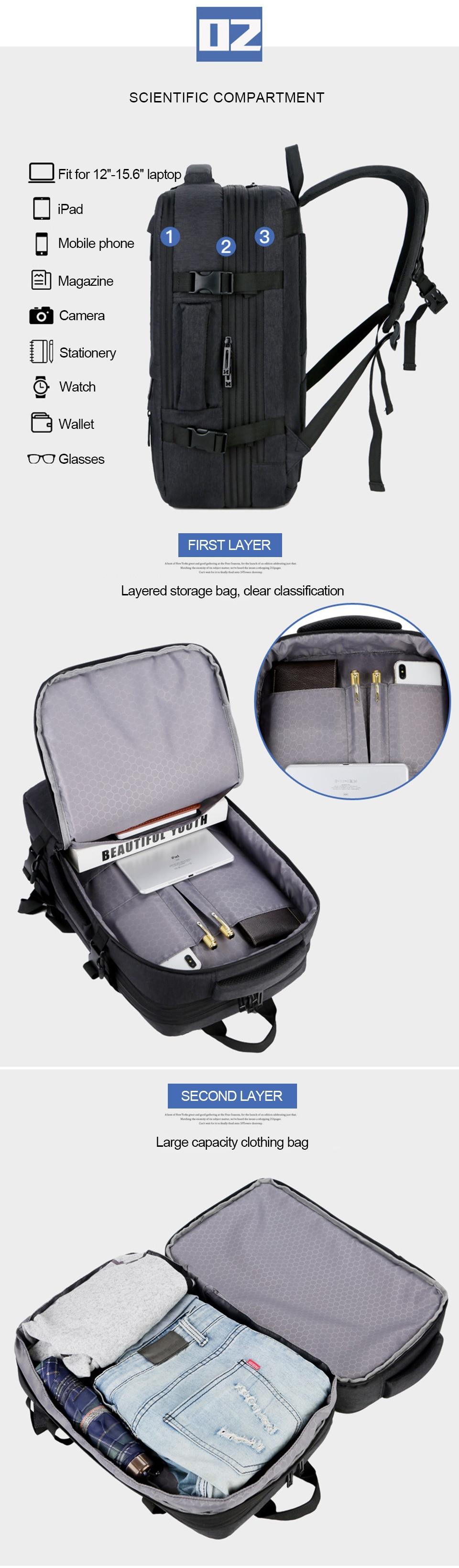 Grand sac à dos Extérieur 40L 5
