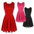 Горячая! красный Черный Розовый Женщины Бальные Платья С Блестка Платье Без Рукавов Плиссированные Короткие Платья Vetement Femme D164