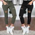 2017 Spring Women Denim Skinny Cut Pencil Pants High Waist Stretch Jeans Trousers Cotton Drawstring Slim Leggings Plus Size 4XL
