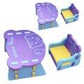 Crianças cadeira e mesa de EVA safe Kids anticolisão mesa infantil cadeira confortável padrão de Urso Feliz