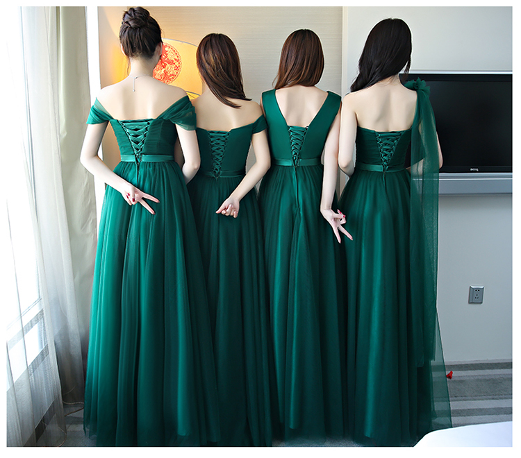 890e2a1607f7 Aliexpress.com : Buy Vestido festa casamento2018 New Tulle A line 5 style  dark green bridesmaid dress long cheap bruidsmeisjes jurk women sale from  Reliable ...
