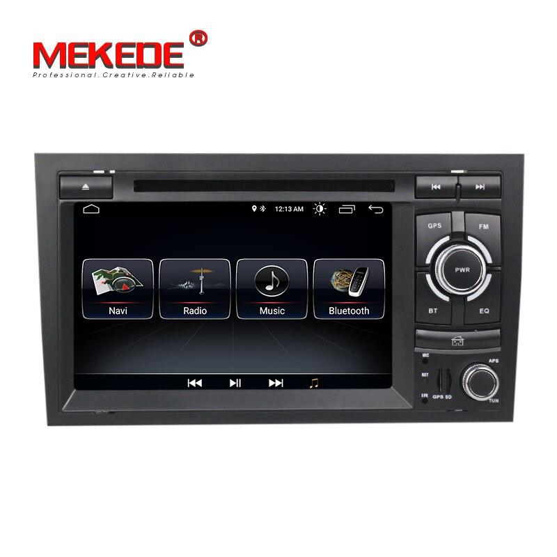 Nouvelle arrivée! Android 8.0 quad core autoradio lecteur multimédia pour Audi A4 S4 RS4 2002-2008 avec dvd gps navigation bateau libre