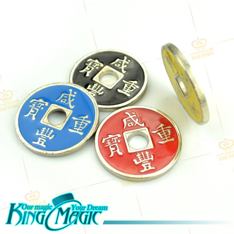Chinese Coins And Shell Magic Tricks Free Shipping One Coin Plus A Shell Without Instruction