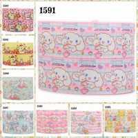 """hot sales 10yards 7/8"""" 22mm Japanese cartoon dog ribbon printed grograin ribbon Free shipping"""
