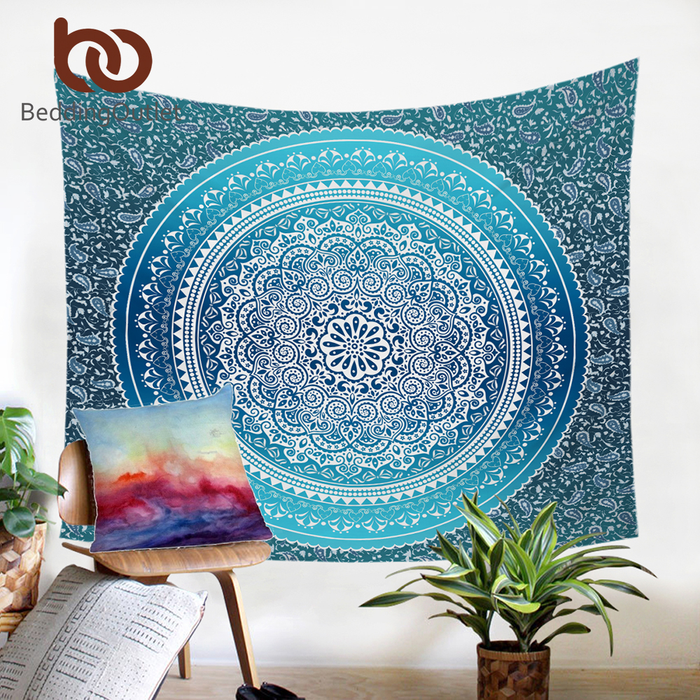 BeddingOutlet Crystal Arrays Wall Hanging Tapestry Bohemia Floral Wall Carpet Home Decor Polyester Soft 130cmx150cm 150cmx200cm