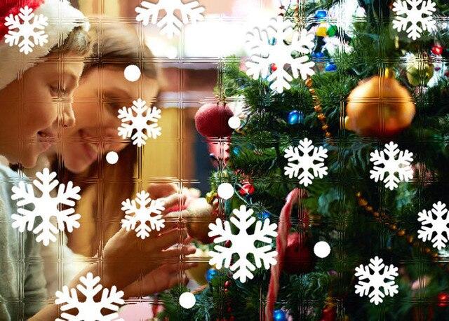 Decorazioni Per Casa Di Natale : Finestra parete adesivi fiocco di neve di natale decorazioni per