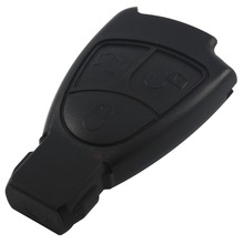 With Logo Replacements 3 Buttons Remote Car Key Shell Case Cover Styling Fob For Mercedes Benz