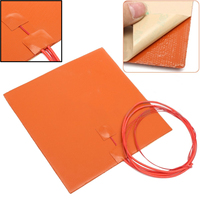 FGHGF New 200W 12V 200 200mm Silicone Heater Pad For 3D Printer Heated Bed Heating Mat