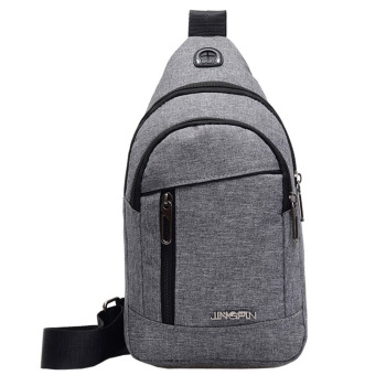 Fashion Men's Outdoor Sports Oxford Cloth Crossbody Shoulder Bag Breast Bag Waist Bag Y415 1
