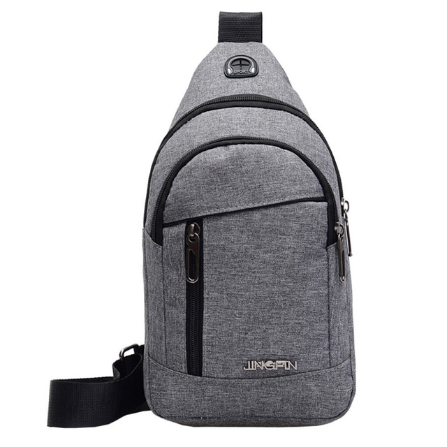 Fashion Men's Outdoor Sports Oxford Cloth Crossbody Shoulder Bag Breast Bag Waist Bag Y415 1