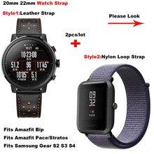 Купить с кэшбэком for Amazfit Smart Watch Strap 20mm 22mm Pulsera Correa for Huami Amazfit Bip Lite Pace Stratos 2 Band for Samsung Gear S2 S3 S4