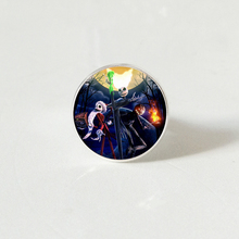 Hot! Fashion Jack and Sally Nightmare ring Nightmare Before Christmas ring Glass Cabochon Jewelr Gifts nightmare nightmare one night of insurrection cd dvd