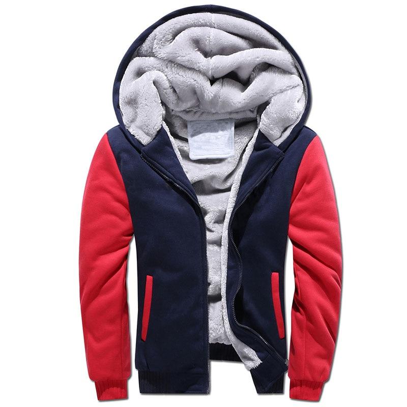 Hoodies Men Sweatshirts Plus size M-5XL 2017 New Mens Warm Thick Classic Fleece Jacket Autumn Winter Designer Sudaderas Hombre
