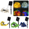 20 LED Solar LED Lantern Lamps Festive Garden Xmas Ball String Fairy Light Multi Color Christmas