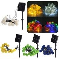 20 LED Solar LED Lantern Lamps Festive Garden Xmas Ball String Fairy Light Multi Color Christmas