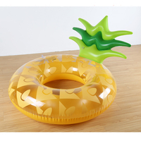 120cm Giant Pineapple Inflatable Swimming Ring Summer Party Pool Float 4
