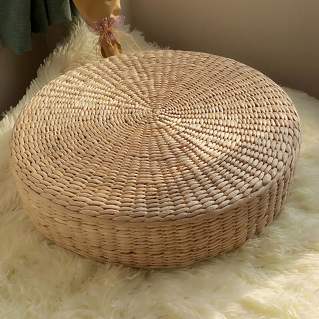 HOT SALE 40cm Tatami Cushion Round Straw Weave Handmade Pillow Floor Yoga Chair Seat Mat HOT SALE 40cm Tatami Cushion Round Straw Weave Handmade Pillow Floor Yoga Chair Seat Mat