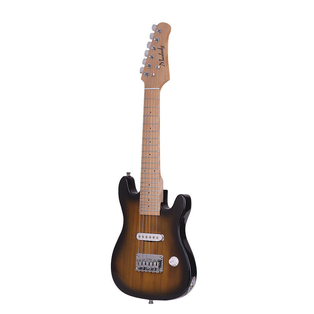 Muslady 28 Inch ST Electric Guitar Kit Maple Neck with Amplifier Guitar Bag Strap Pick String Audio Cable Right-Handed Style