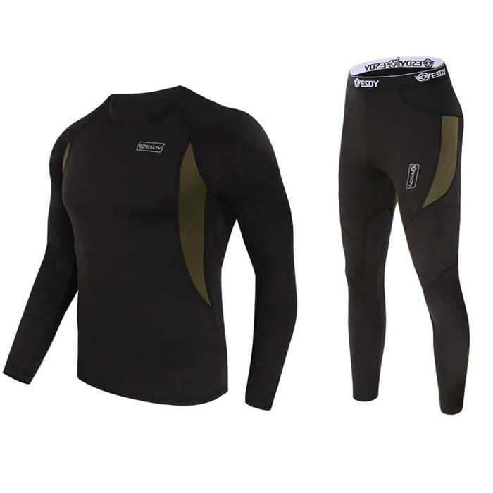 Newest thermal underwear men underwear sets compression fleece sweat quick drying thermo underwear men clothing