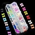 Rhinestone Del Arco 3D Arte de la Resina Decoración de Uñas 60 UNIDS Mix Del Color Del Caramelo Lindo Del Bowknot Nails Tip Accesorios de Decoración Del Teléfono