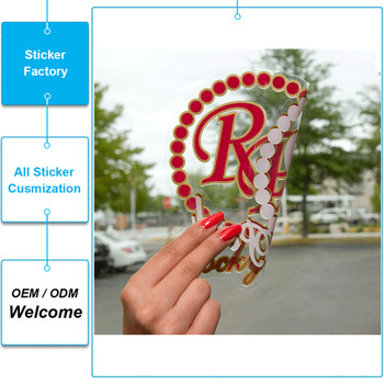UV protected OUTDOOR DURABLE waterproof static clind custom non adhesive sticker