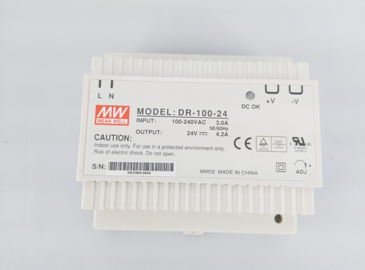 Original MEAN WELL 120W Single Output Din Rail Switching Power Supply DR-120 120w 12v din rail single output switching power supply dr 120 12