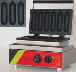 110v or 220v Electric French Hot Dog Waffle Maker Machine Baker Iron