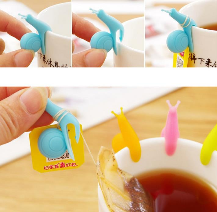 Cute Snail Wineglass Label For Tea Bag Hanging Mug Cup ...