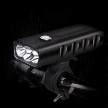 USB Rechargeble Bike Lamp T6/L2 LED Cycling Light Front Bicycle Headlight 3 Modes Torch Flashlight Built-in Battery