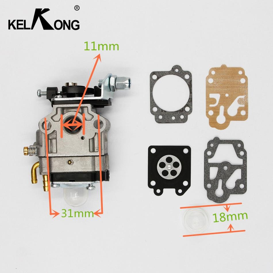 KELKONG Carburateur 10mm Carb Kit Walbro WYJ-138 PMW partie 4088 fit pour Mini Moto 33CC 36CC Kragen Zooma Scooter De Gaz Pocket Bike