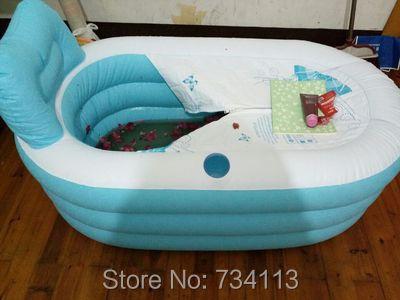 Vasca Da Bagno Plastica Portatile : Portatile gonfiabile vasca di ispessimento adulto pieghevole di