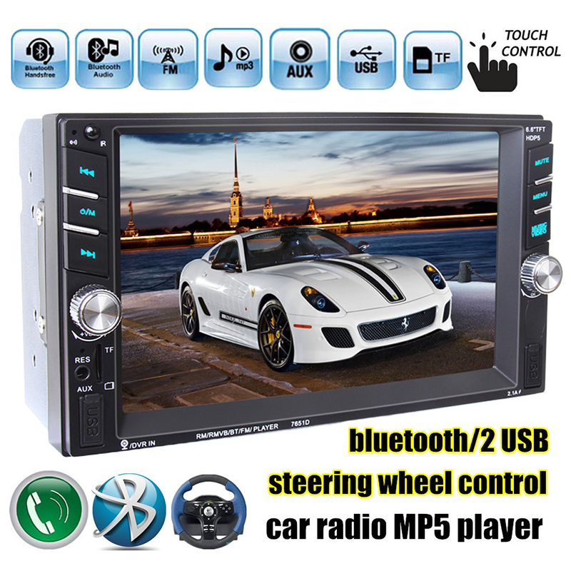 Unterhaltungselektronik Pflichtbewusst Neue 6,6 Zoll Hd 2 Din Mp5 Mp4 Player Touchscreen Auto Fm Radio Stereo Bluetooth Unterstützung Hinten Kamera 2 Usb Port Fm #94629 Moderate Kosten Tragbares Audio & Video