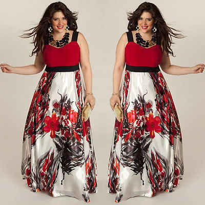054b35f5e7 Plus Size 3XL Sexy Women Summer Sleeveless Print Dress Boho Maxi Long  Evening Party Beach Dress Vestido Specially For Fat