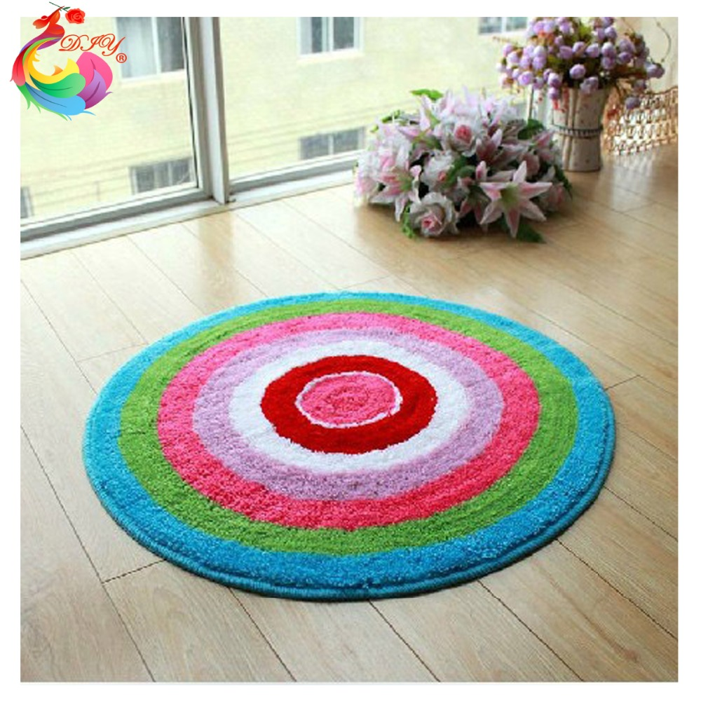 DIY Mat Needlework Kit Unfinished Crocheting Rug Yarn ...